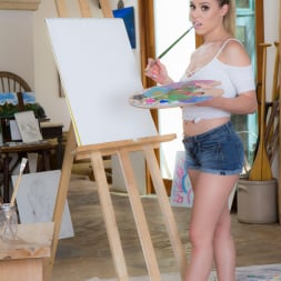 Aubrey Sinclair in 'Twistys' Painting Her Pussy (Thumbnail 1)