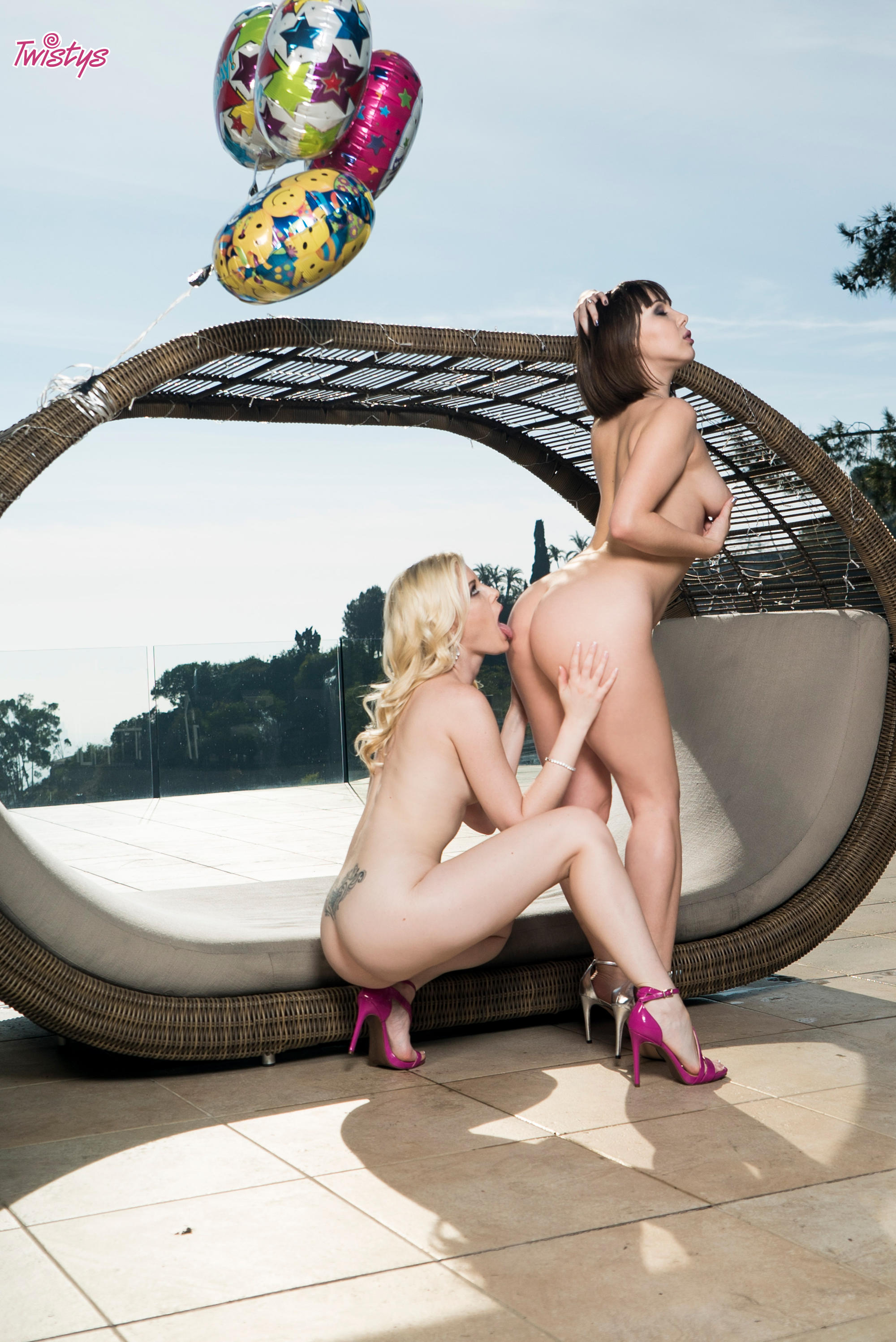 Twistys 'Lingerie Party' starring Charlotte Stokely (Photo 24)