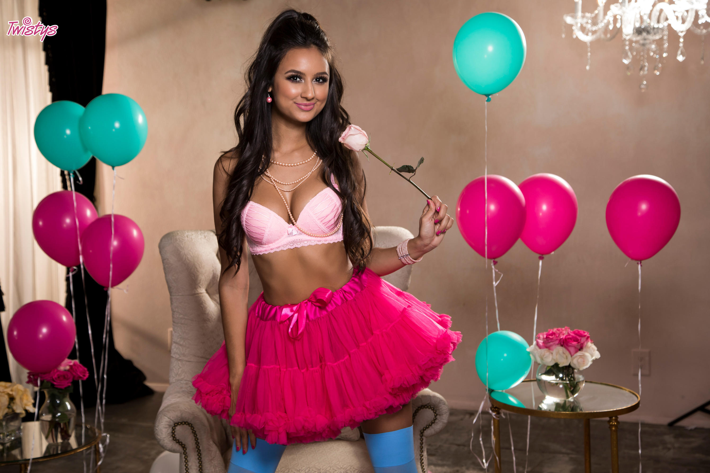 Twistys 'Balloons and Bubble Gum' starring Eliza Ibarra (Photo 12)