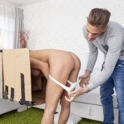 Sandra Wellness in 'Twistys' Makeshift Cardboard Gloryhole (Thumbnail 35)